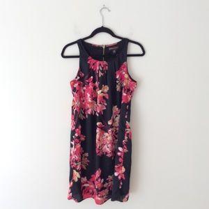 DANA BUCHMAN floral dress Black Red size S Small